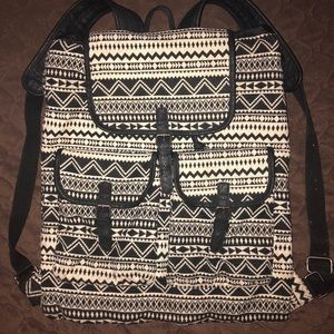 Mossimo Supply Co. Bags - black and white tribal print backpack